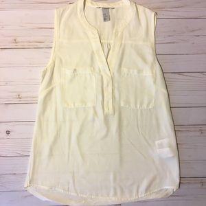H&M cream blouse